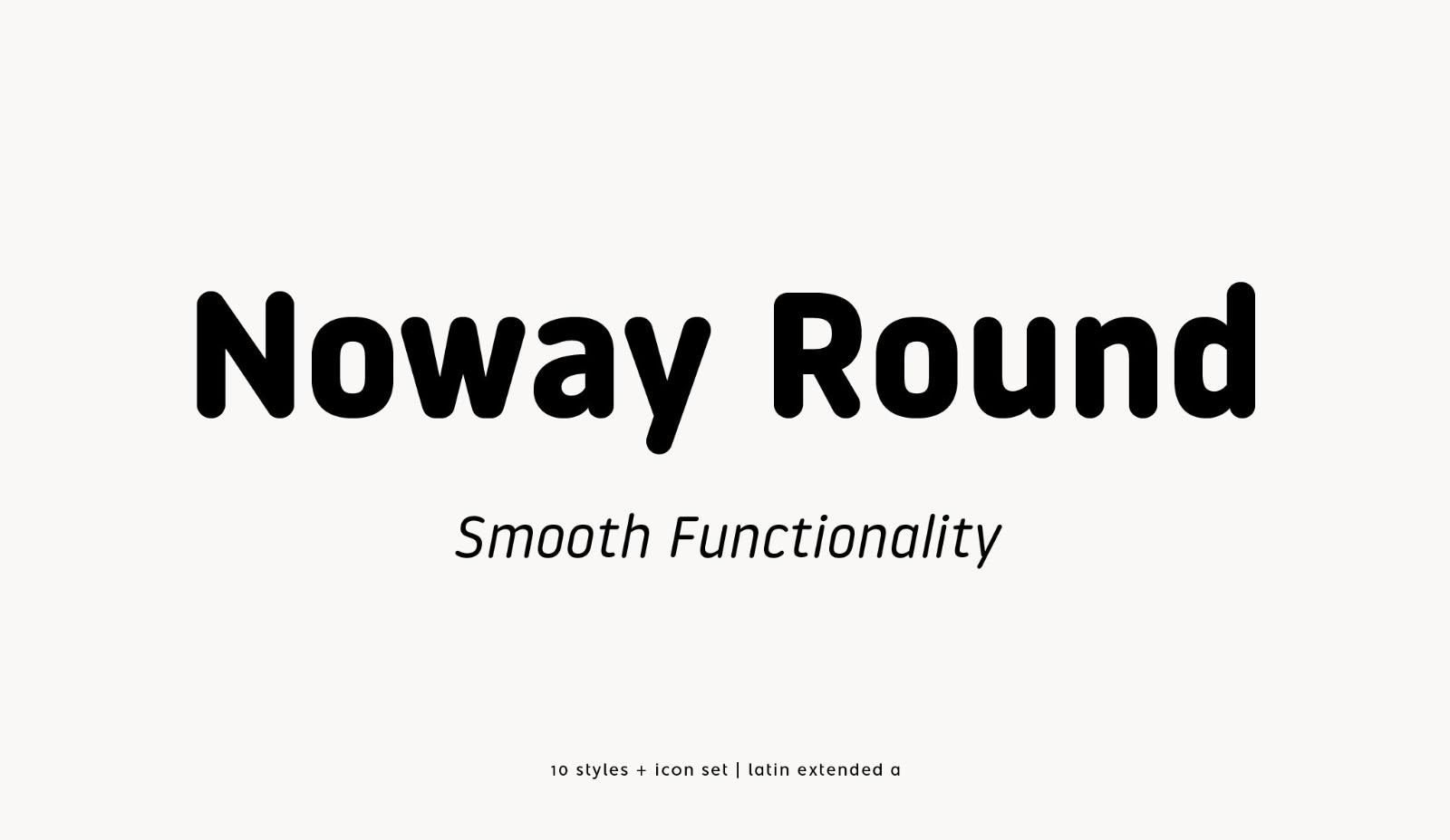 Noway Round Typeface