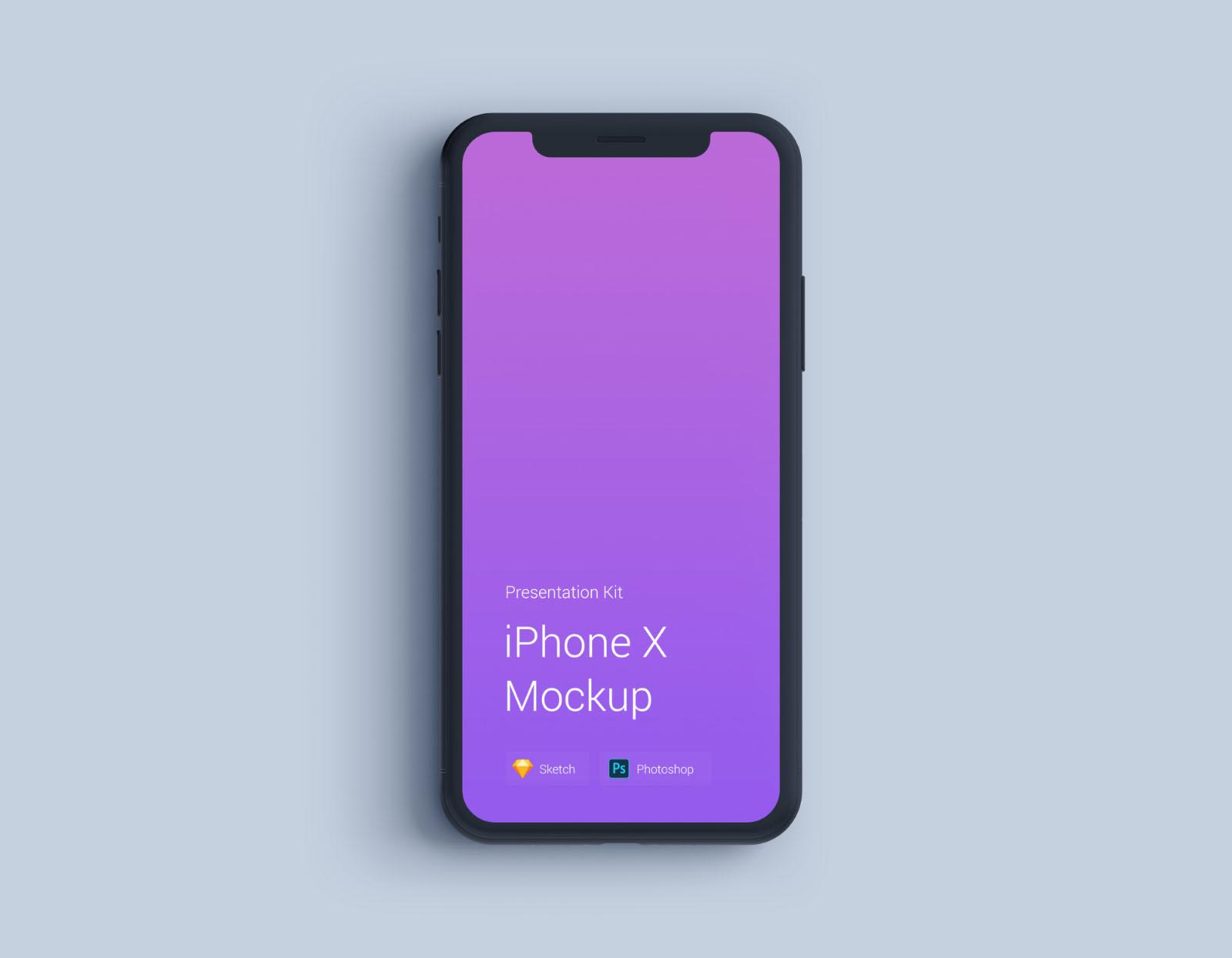 iPhone Mockup Black Matte