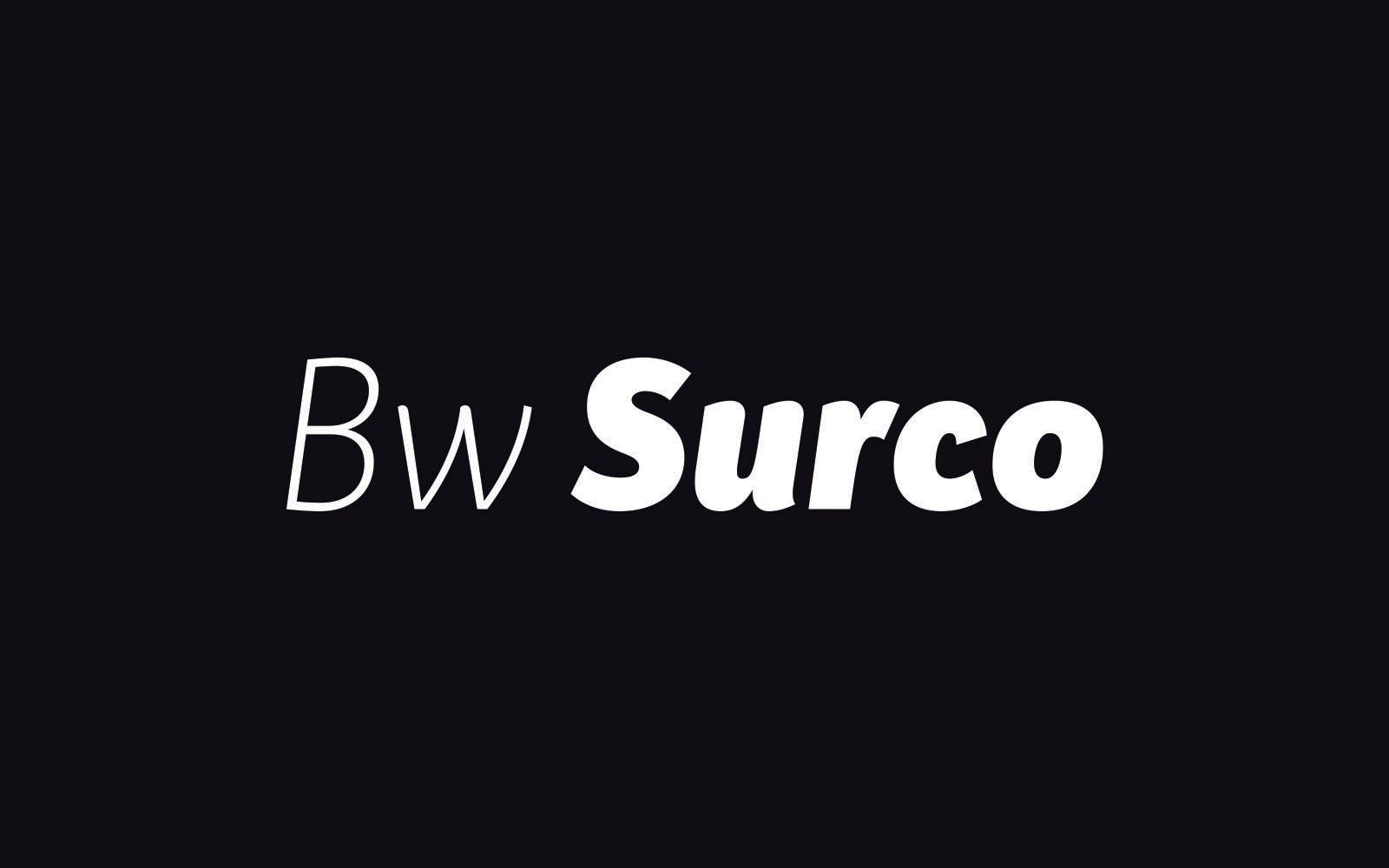 Bw Surco Font