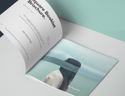 Perspective Square Brochure Mockup