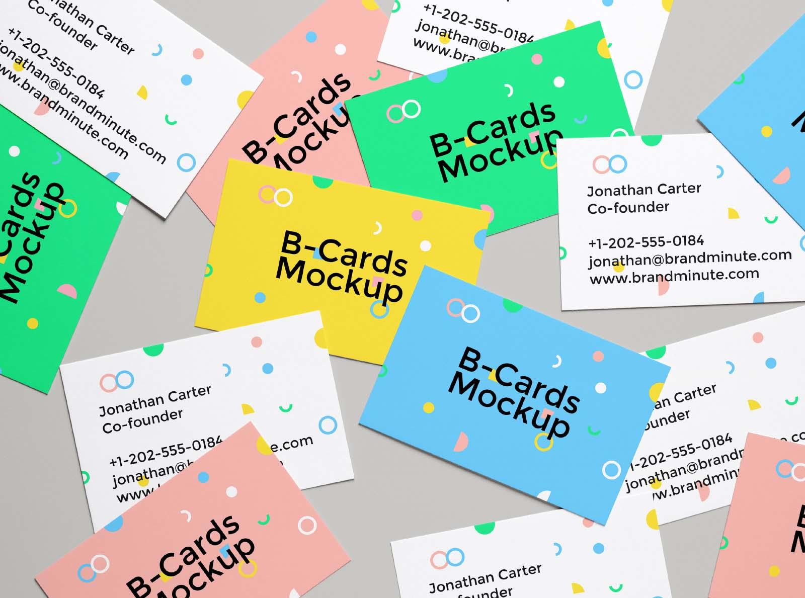 Realistic Random Business Card Mockup