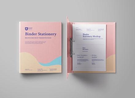 Ring Binder Folder Mockup