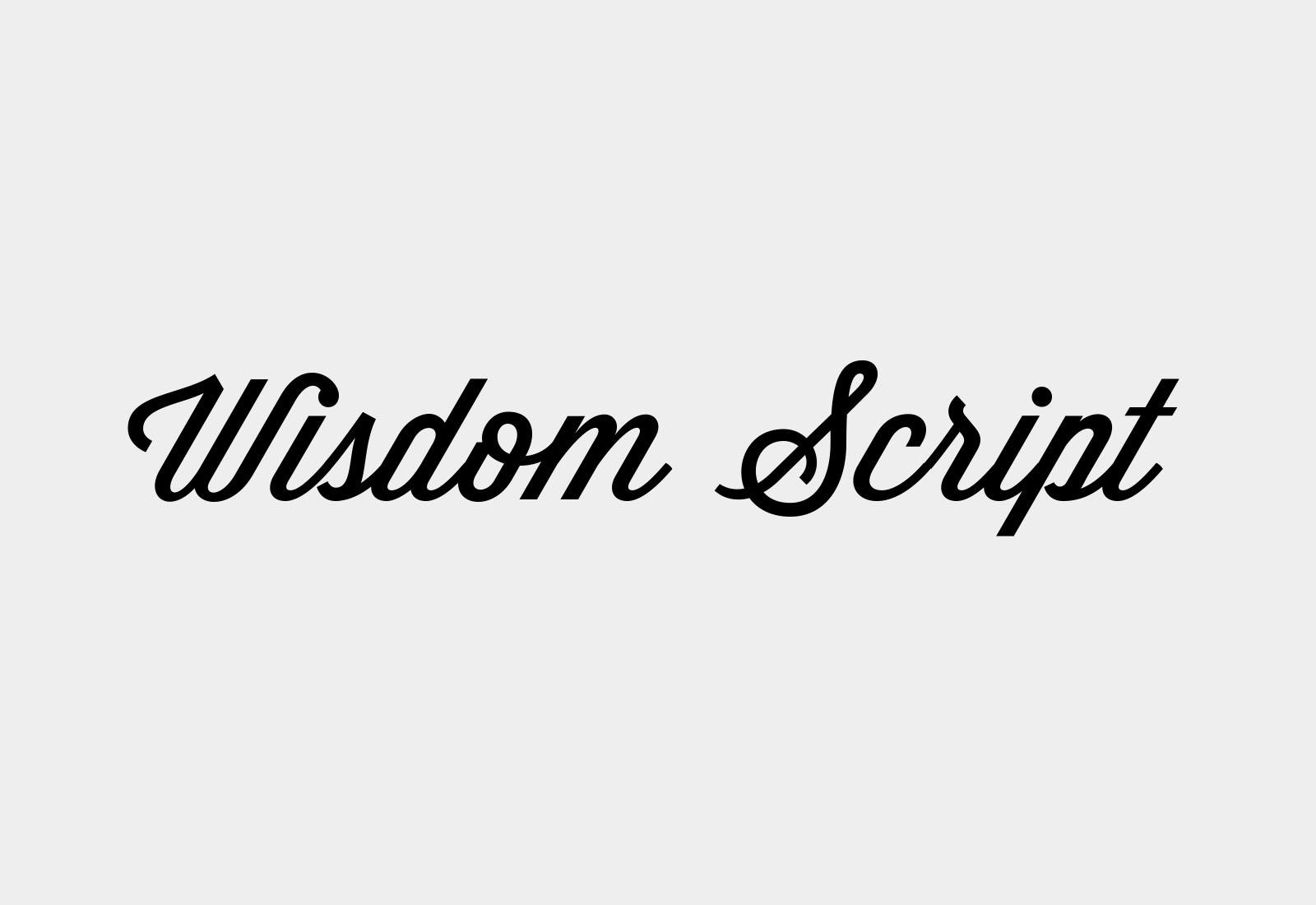 Wisdom Script Typeface