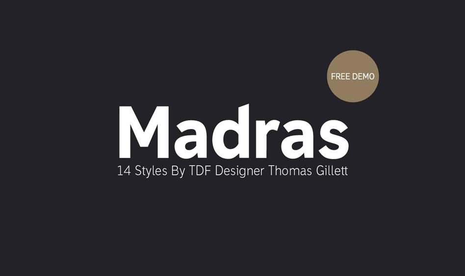 Madras Typeface
