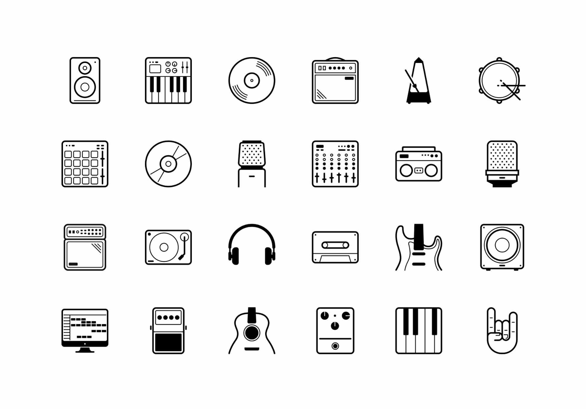 24 Free Vector Studio Icons