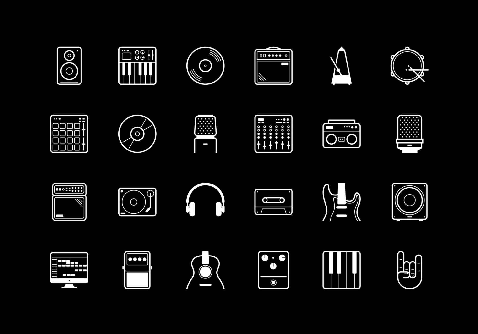 24 Free Vector Studio Icons 2
