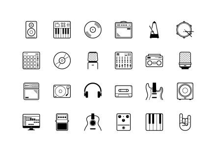 24 Studio Icons