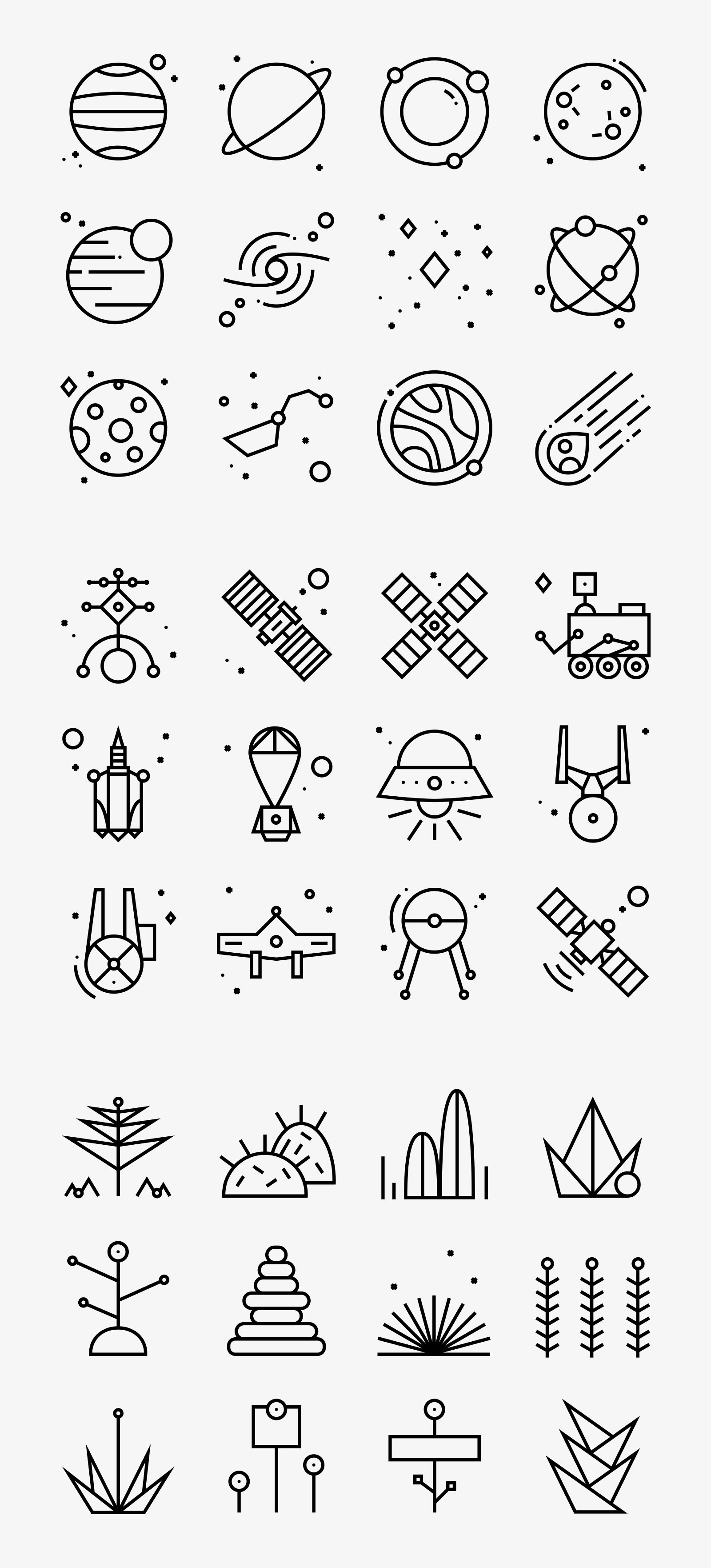 36 Space Iconography Icons