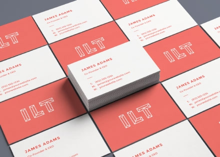 Business Card Mockup – Perspective Angle