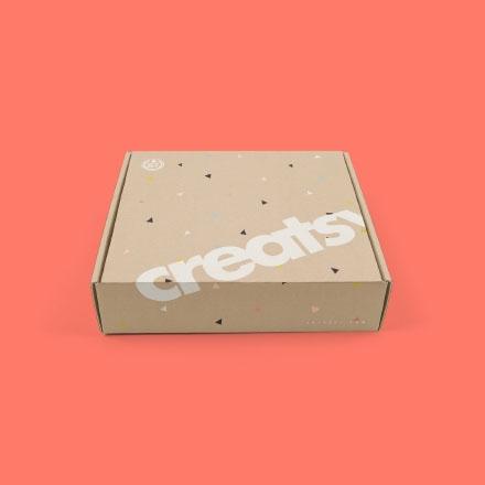 Cardboard Mailing Box Photoshop Mockup