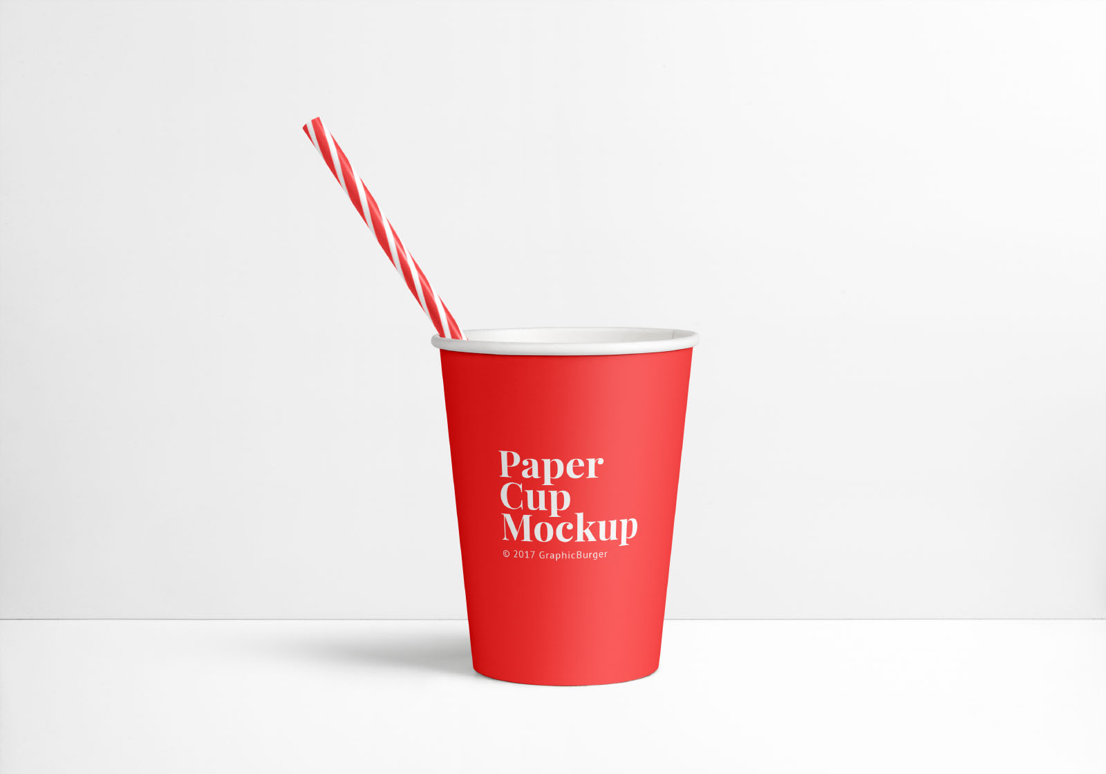 Disposable Paper Cup Mockup