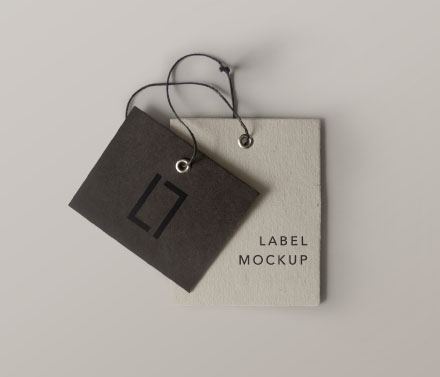 Double Brand Label Mockup