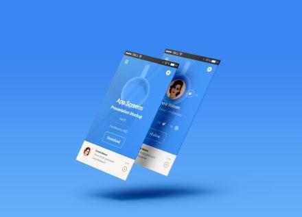 Double Perspective App Screen Mockups