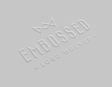 Embossed Realistic Paper Logo Mockup th