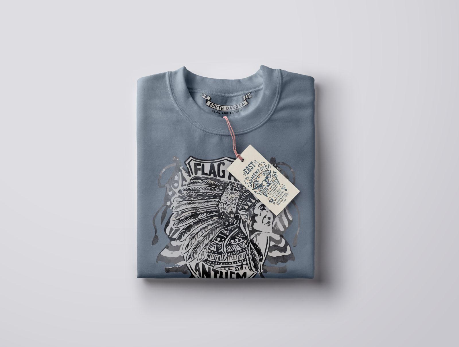 Folded Top View Sweatshirt Mockup
