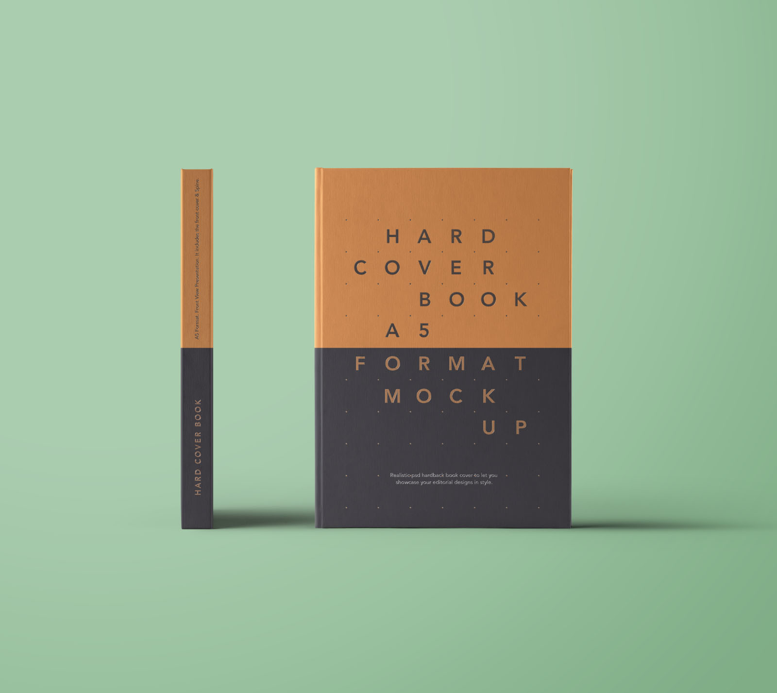 Front View Hardcover Book Mockup