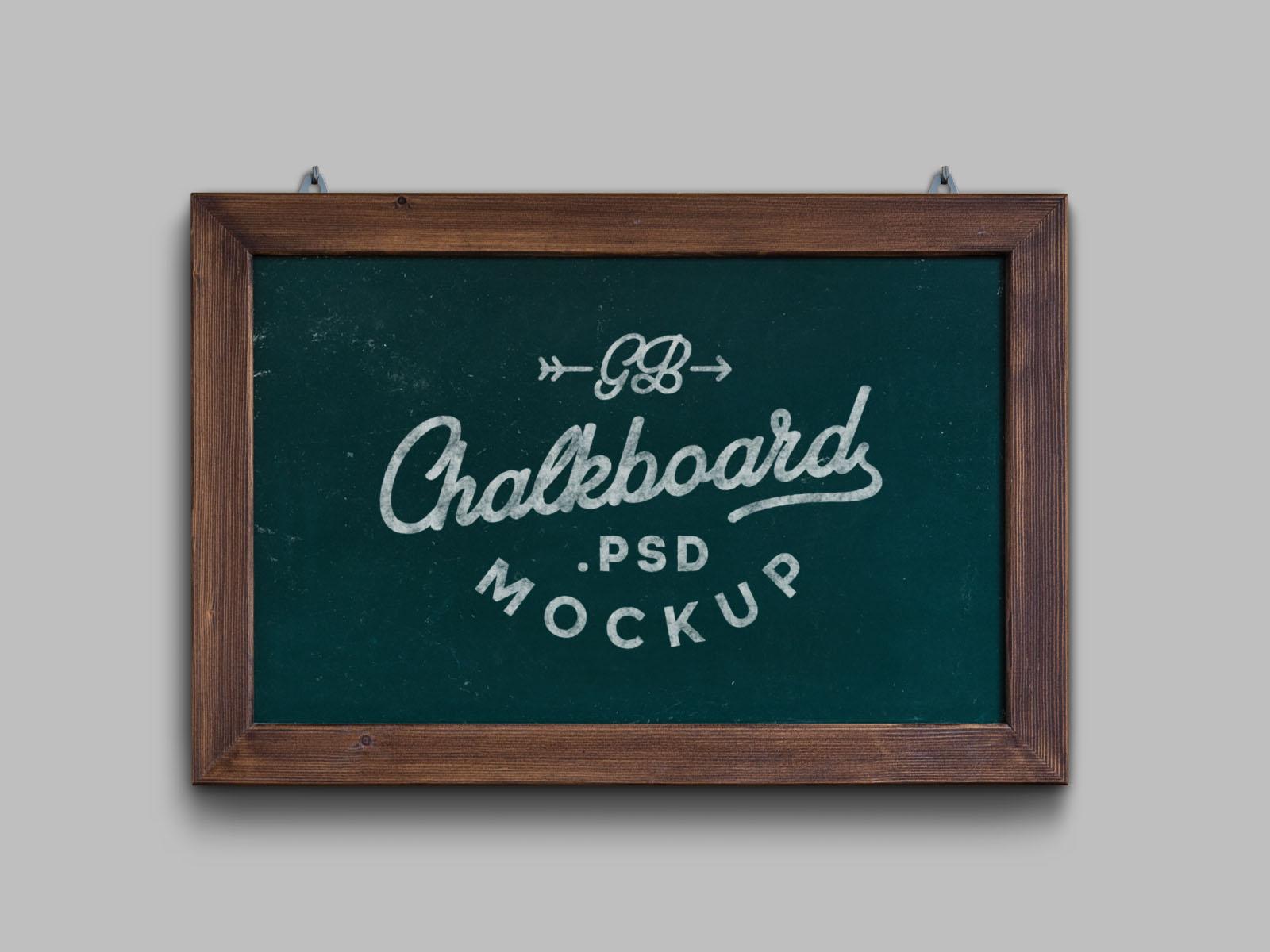 Green Vintage Chalkboard Mockup