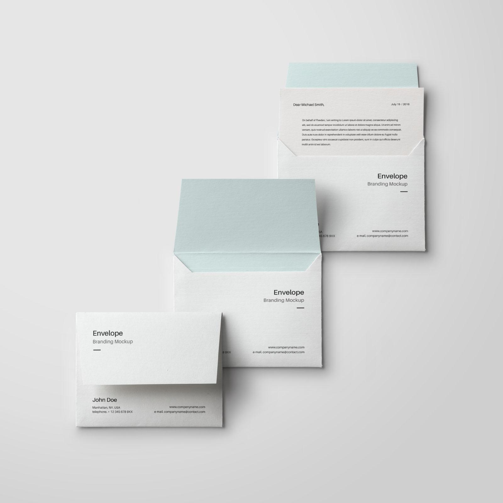 letter size envelope mockup