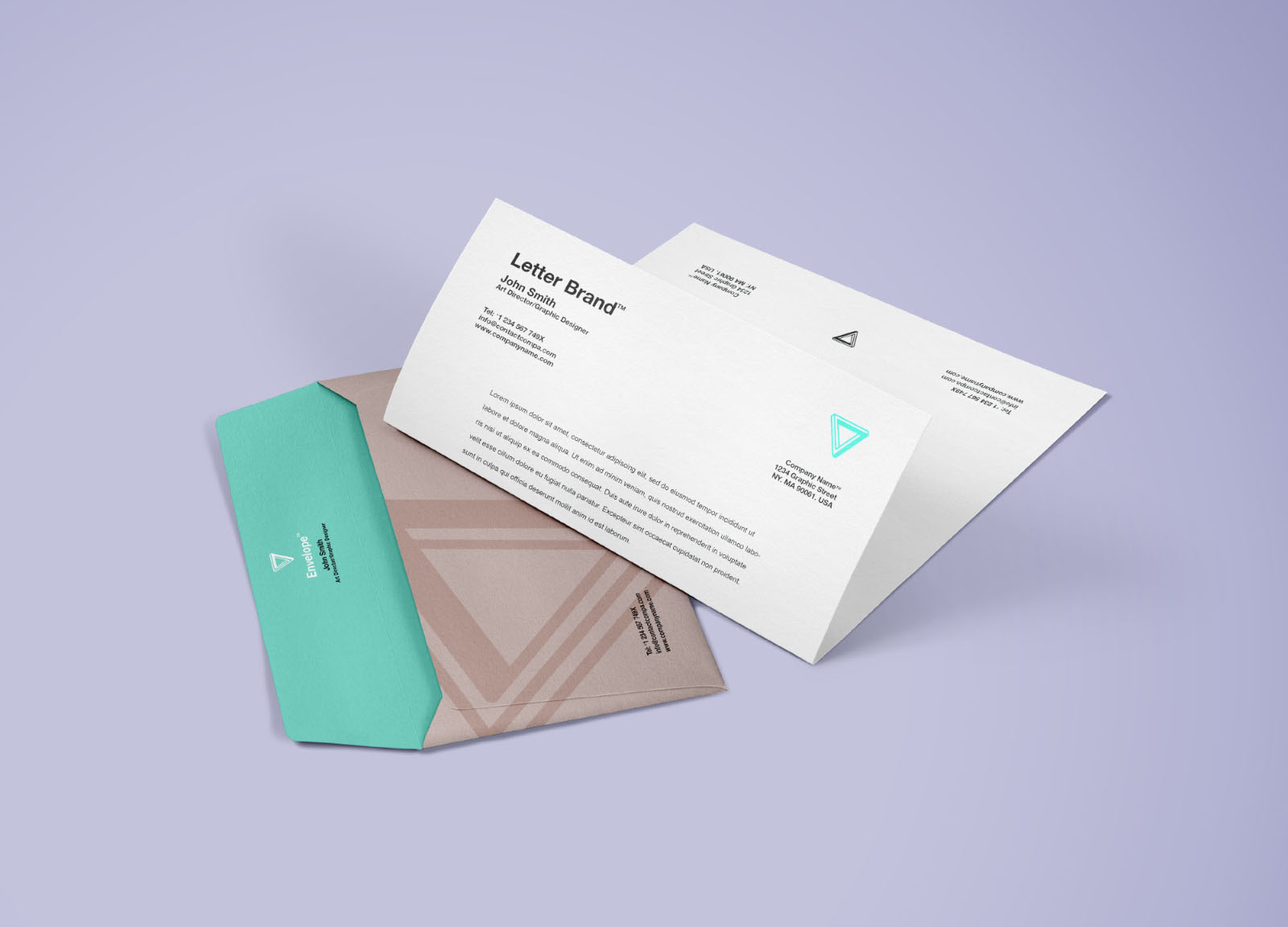 Letter and Envelope Photoshop Mockup