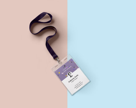 Neck Identity Card Holder Mockup