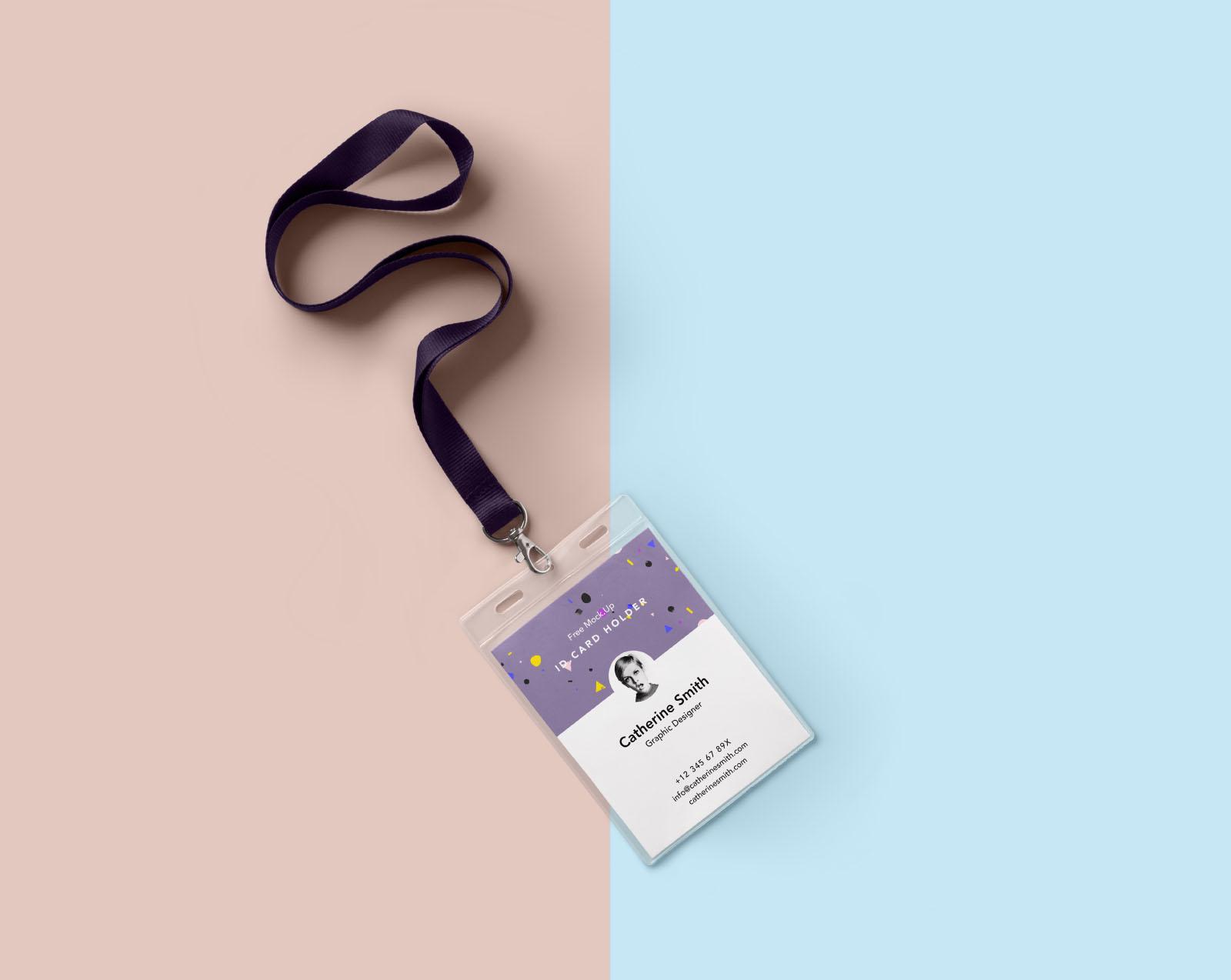 Neck Identity Card Holder Mockup