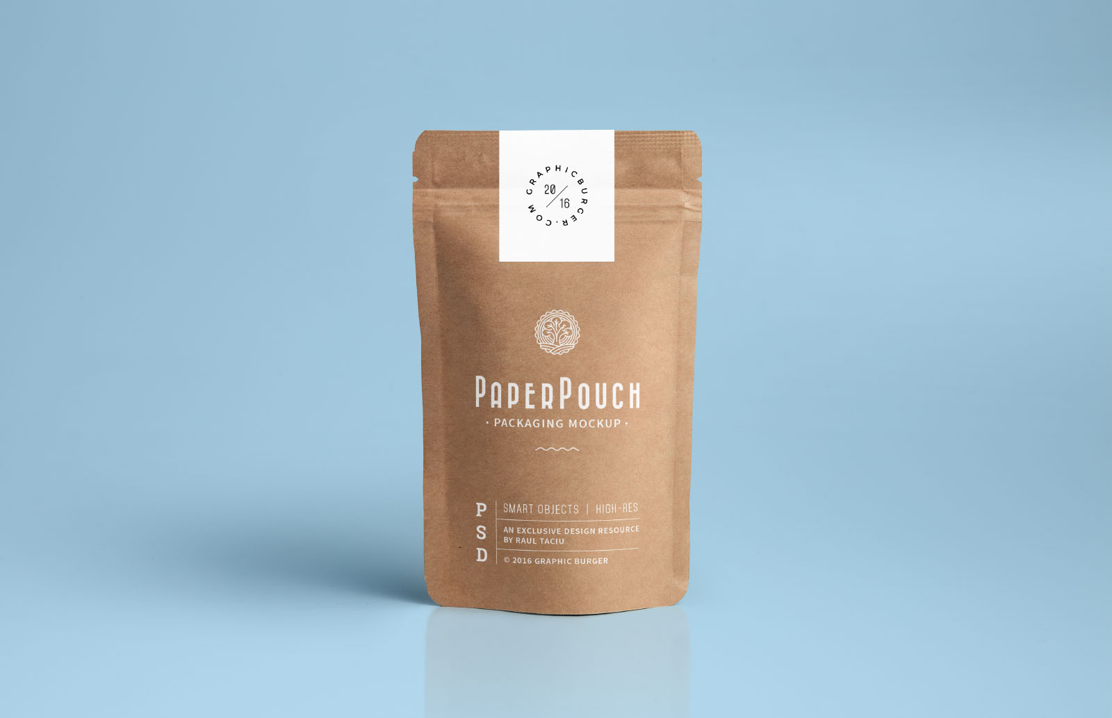 Paper Pouch Packaging Psd Mockup