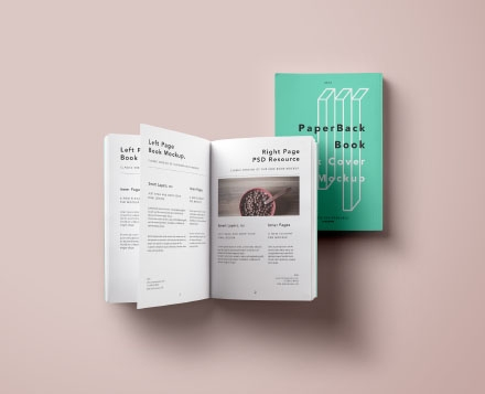 Paperback Book Softcover Book Mockup