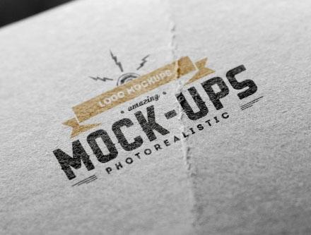 Perspective Debossed Logo Mockup