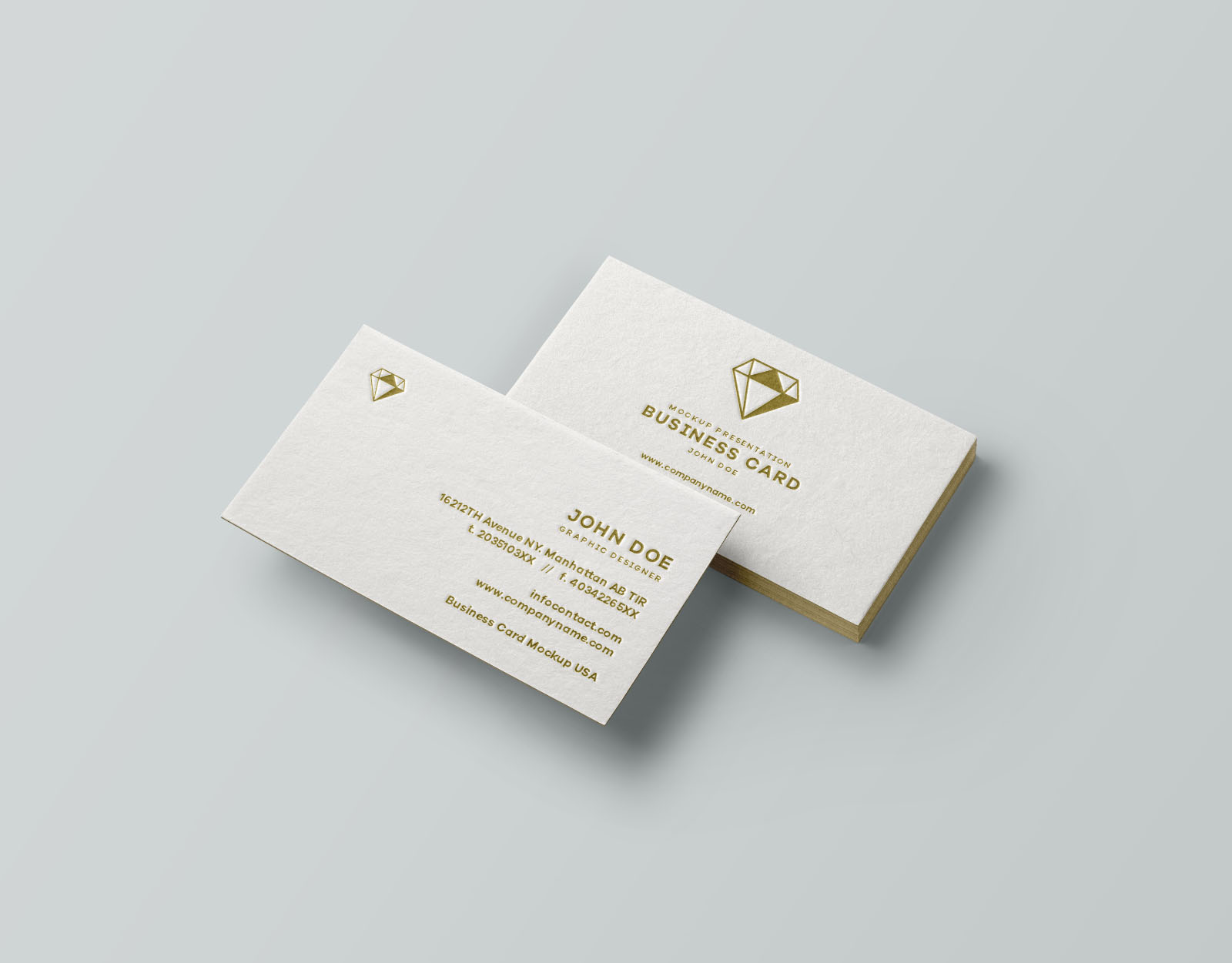 Perspective Thick Business Card Mockup