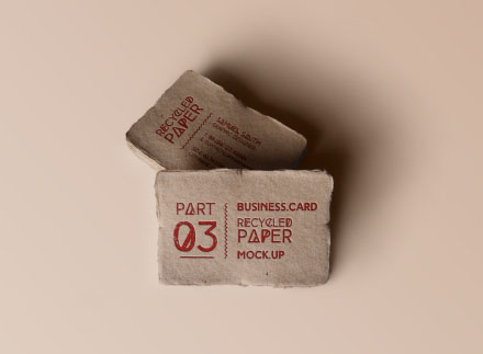 Recycled Business Card Mock-up