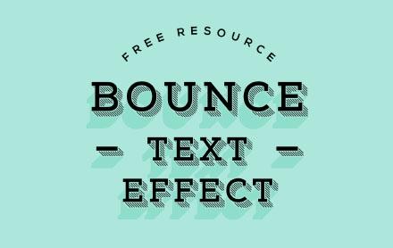 Subtle Bounce Text Effect
