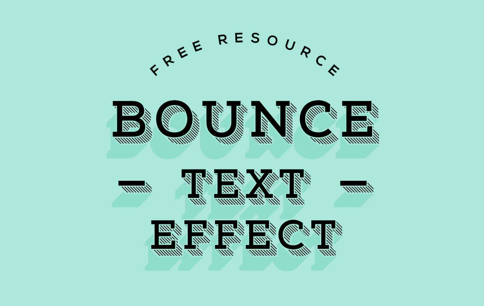 Subtle Bounce Text Effect