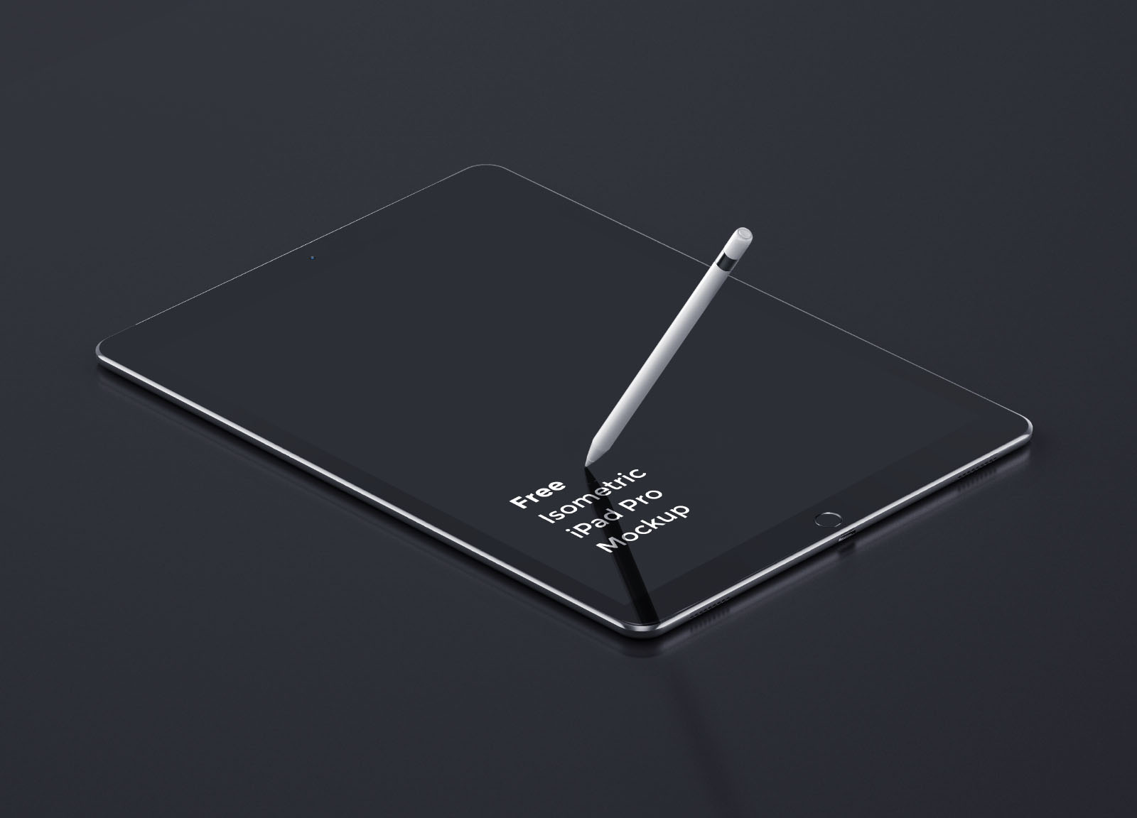 iPad Pro Tablet Perspective Mockup