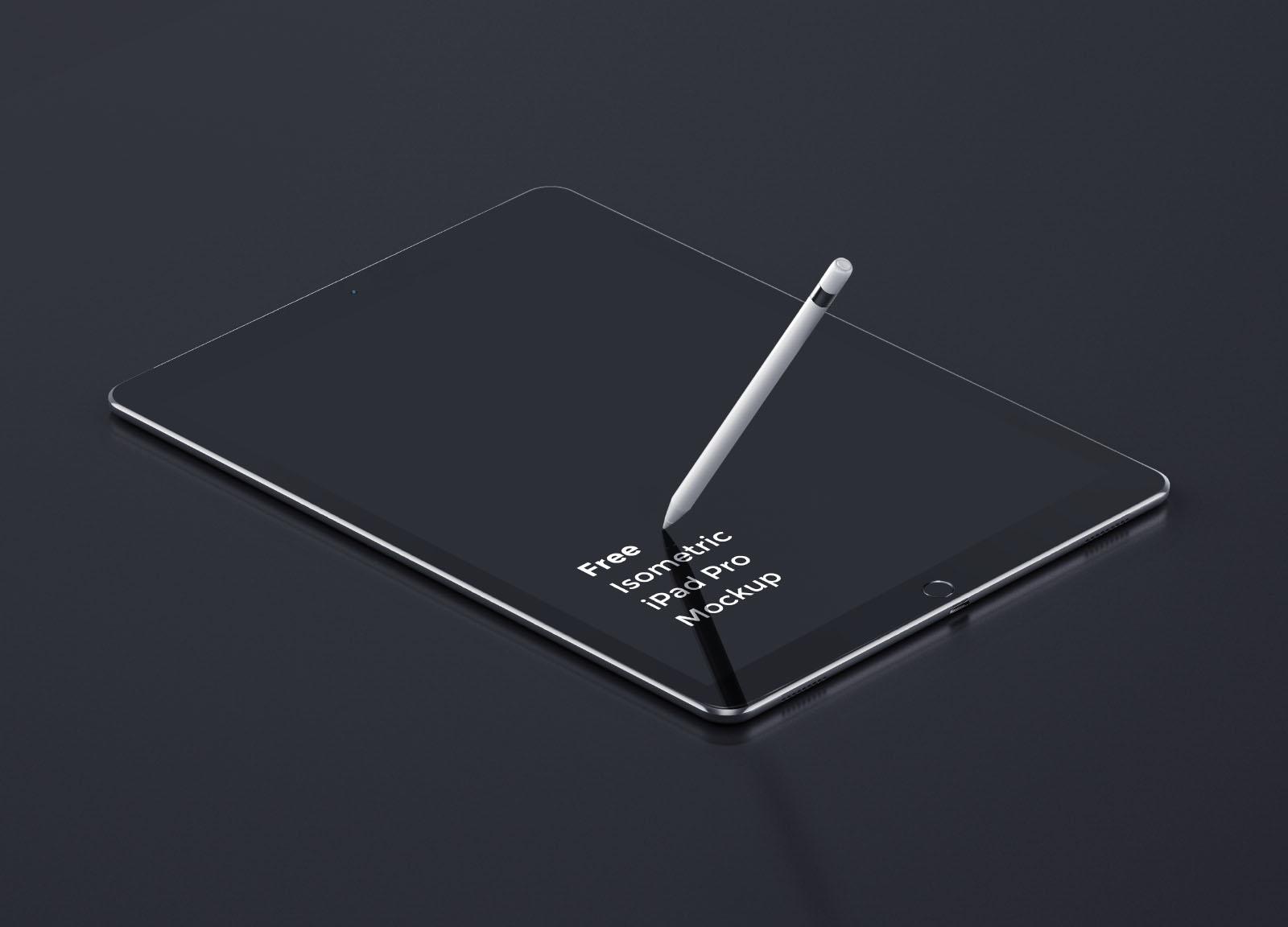 iPad Pro Tablet Perspective Mockup