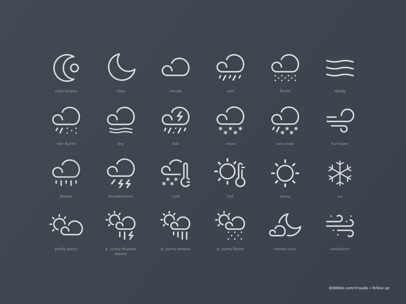 24 Free Vector Weather Icons