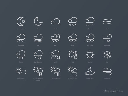 24 Free Weather Icons