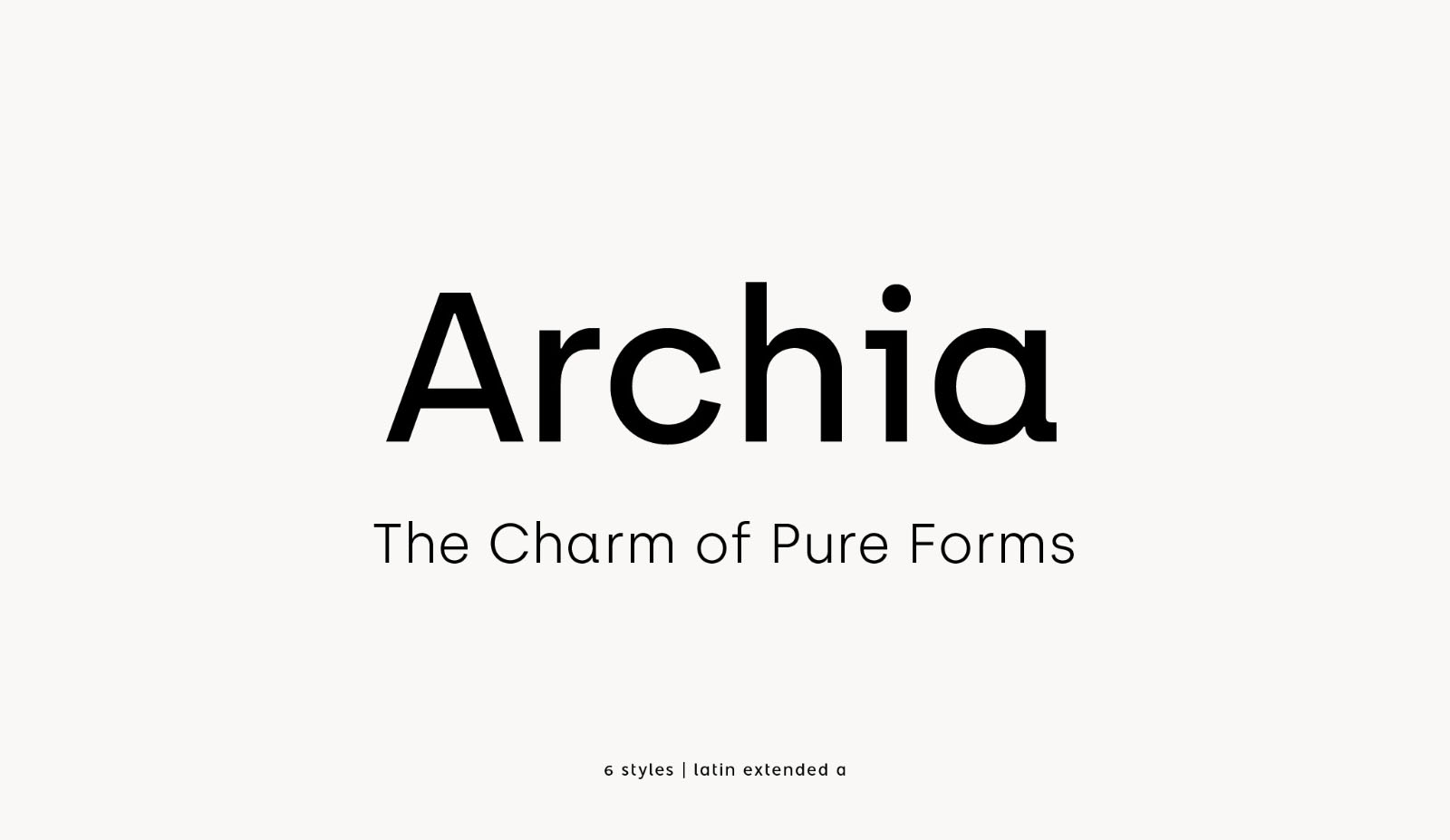 Archia Modern Simple Font