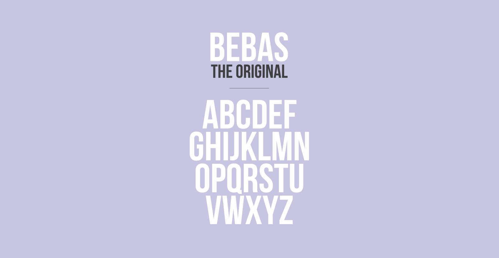 Bebas Font Free