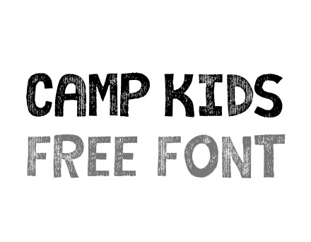 camp kids comic free font