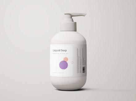 Liquid Soap Bottle Mockup PSD