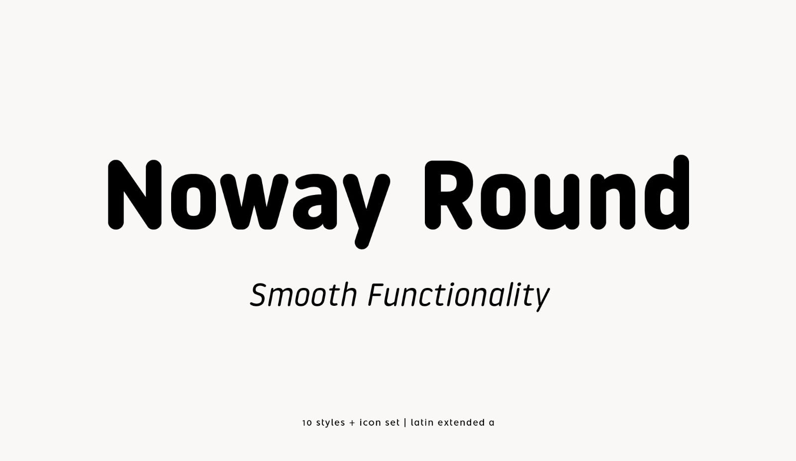 Noway Round Font