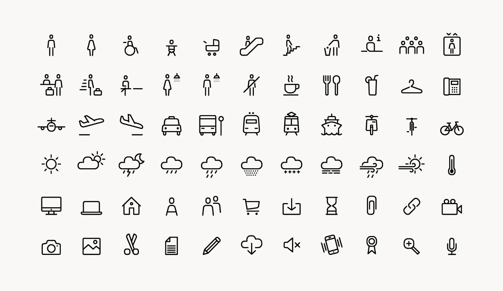 Noway Round - Icons