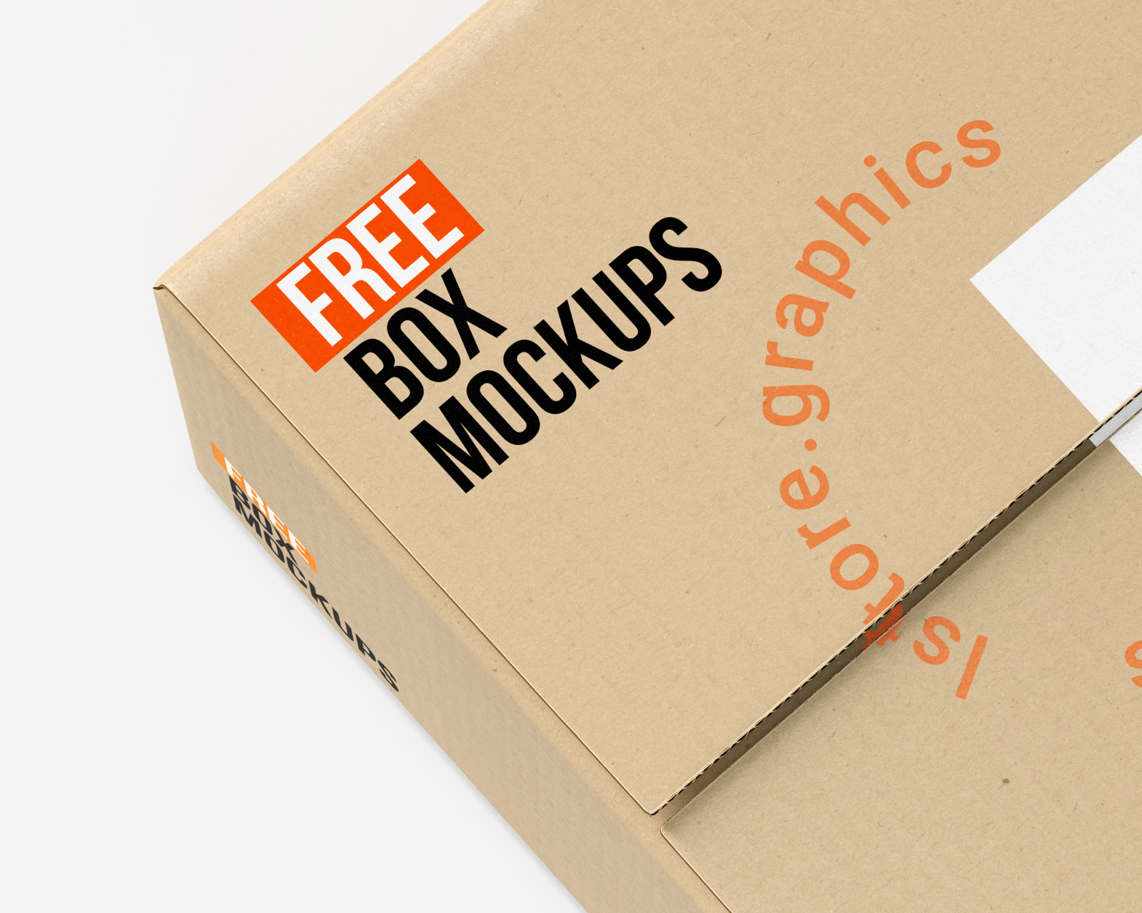 Package Box Mockup PSD