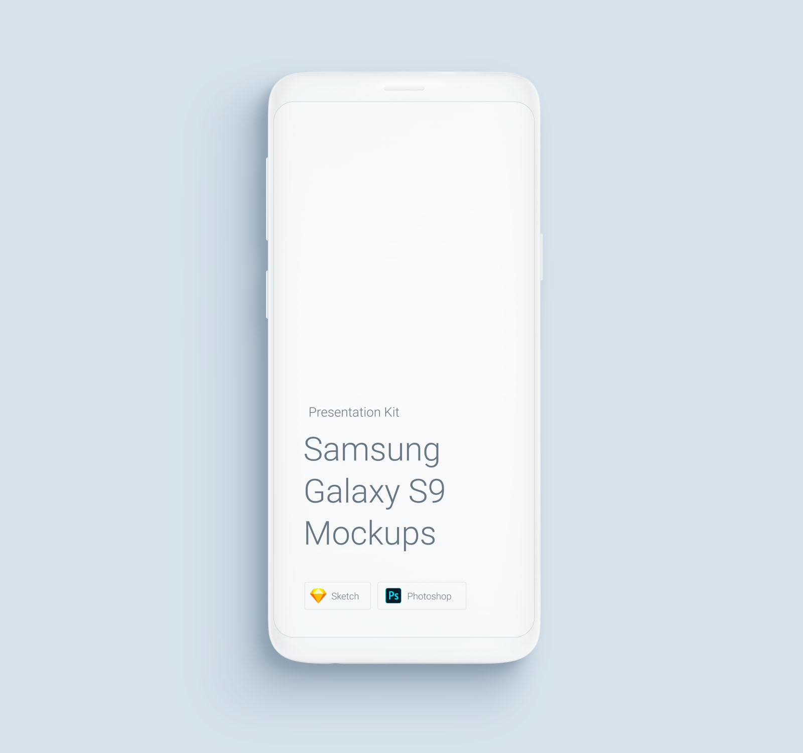 Samsung Galaxy S9 Free Phone Mockup