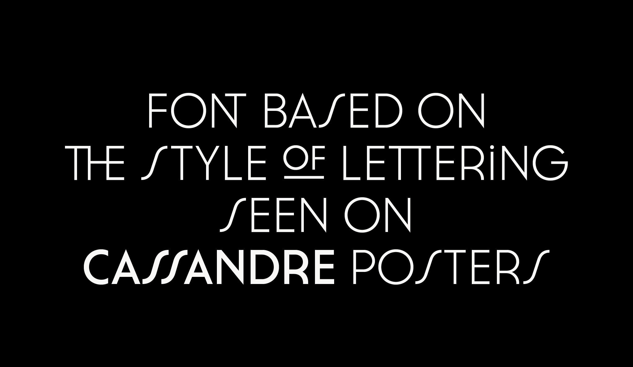 Cassannet Free Font