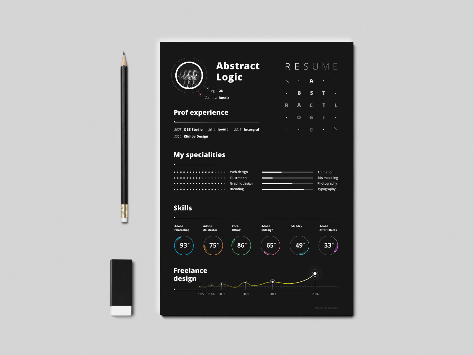 Dark Resume Template