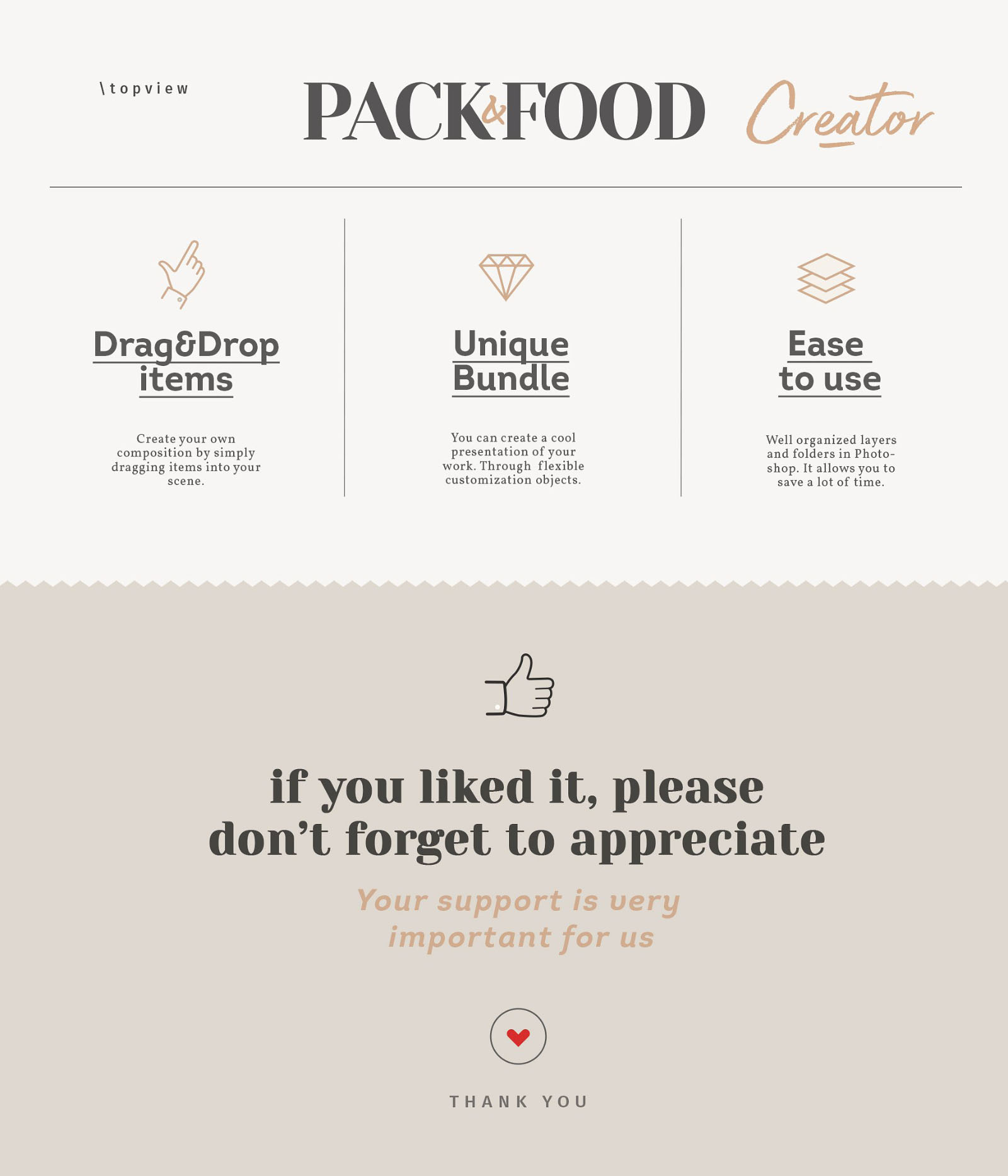 Food Packaging Mockup - Features