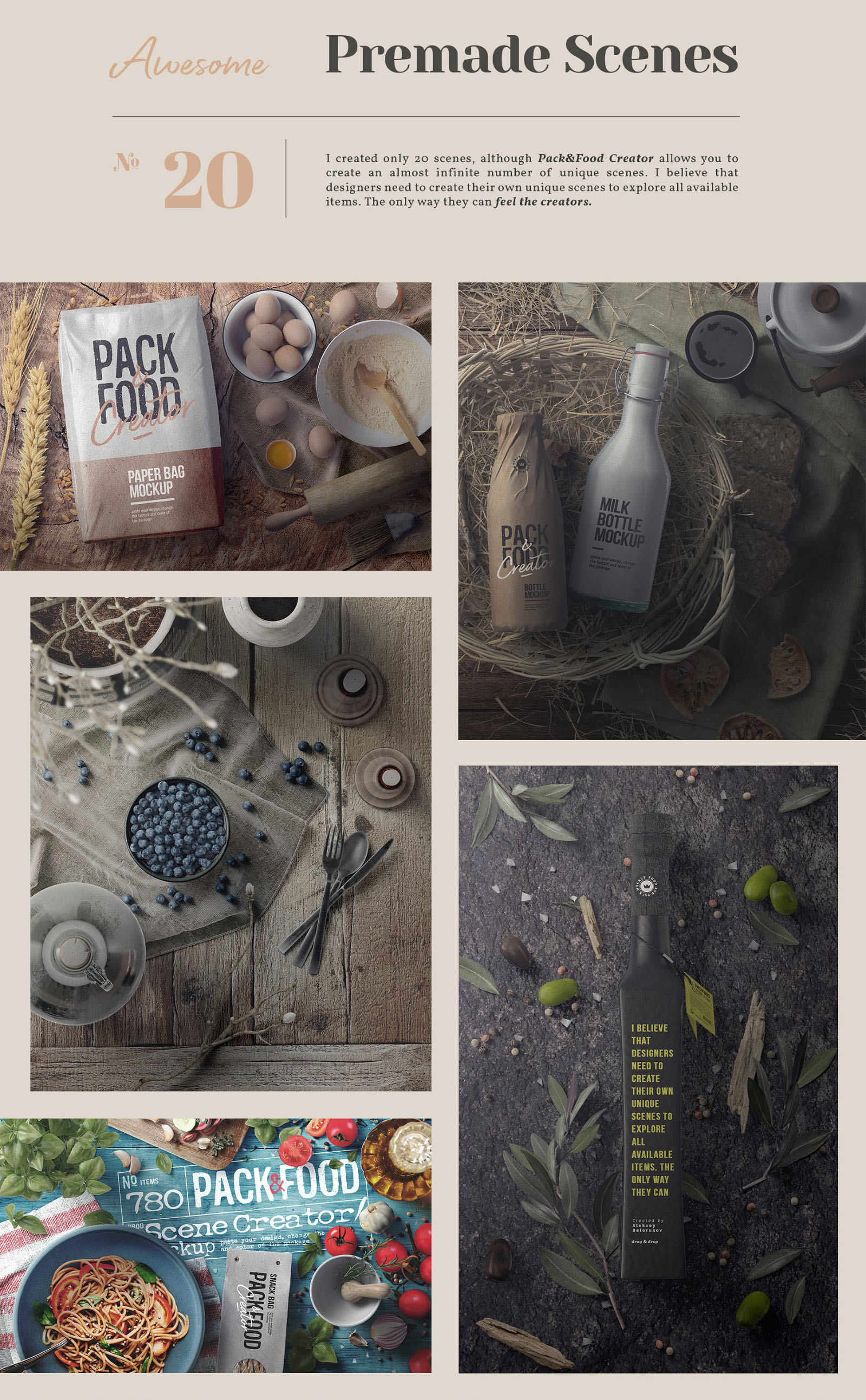 Food Packaging Mockup - Scenes