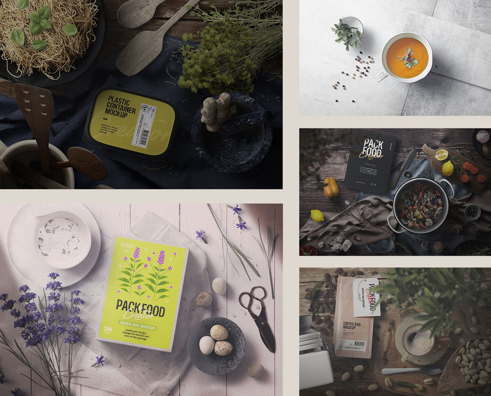 Food Packaging Mockup - Scenes