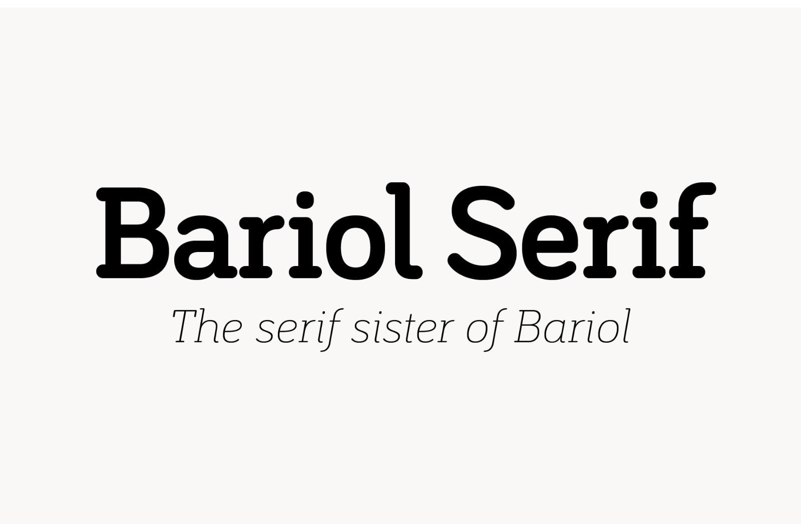 Bariol Serif Modern Typeface